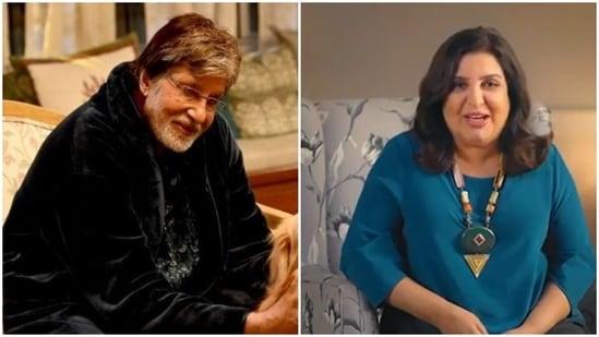Amitabh Bachchan and Farah Khan.