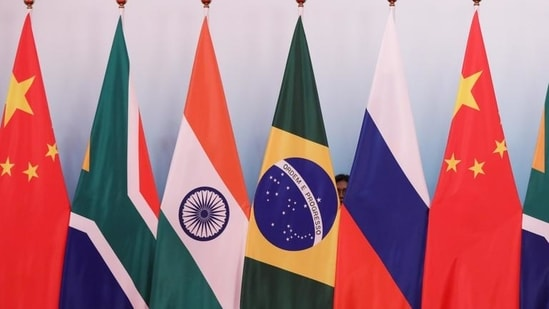 Flags of all 5 BRICS member states (Reuters)