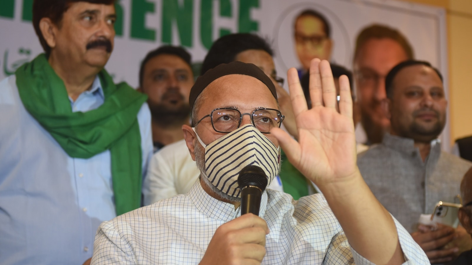 Photo of Asaduddin Owaisi booked by UP police for allegedly 'vitiating communal harmony' | Hindustan Times
