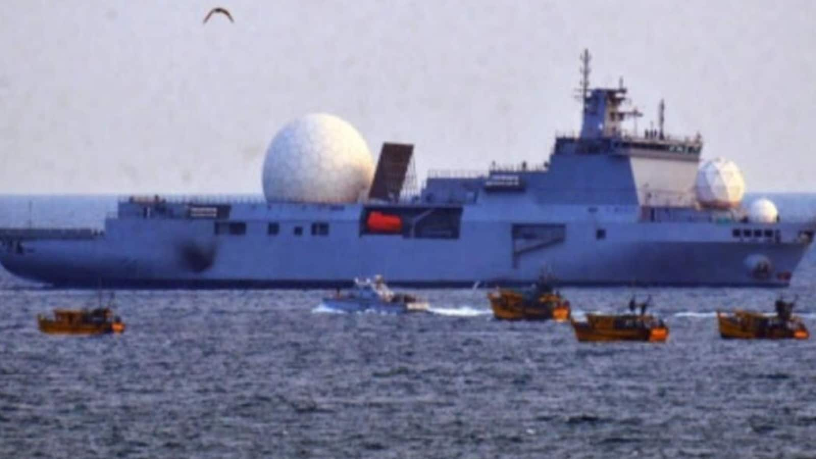 INS Dhruv during trials