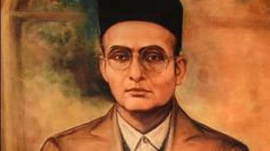 A portrait of Vinayak Damodar Savarkar. (HT Archive)