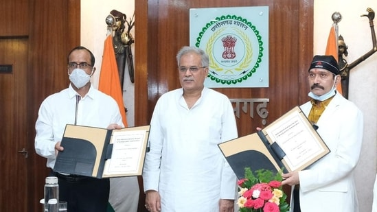 Chhattisgarh chief minister Bhupesh Baghel (centre) said the state will become the millet hub of the India.
