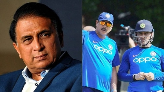 Gavaskar gives his opinion on MS Dhoni getting appointed as Team India's mentor for T20 World Cup(HT Collage)