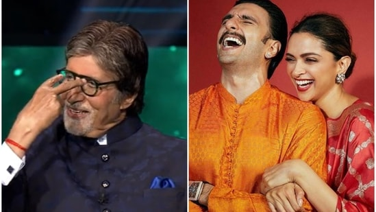 Amitabh Bachchan shared a funny anecdote about Ranveer Singh and Deepika Padukone.
