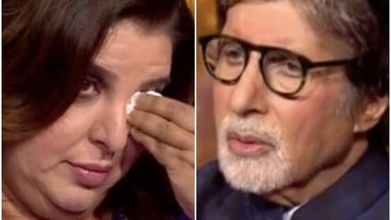Amitabh Bachchan and Farah Khan on Kaun Banega Crorepati 13.