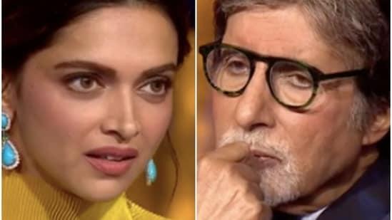 Deepika Padukone and Amitabh Bachchan on Kaun Banega Crorepati 13.