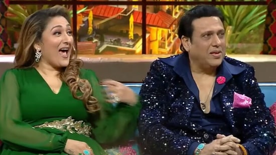 Govinda and Sunita Ahuja on The Kapil Sharma Show.