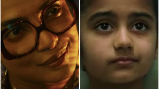 Priyanka Chopra (L) in the Matrix Resurrections trailer, and actor Tanveer Atwal as Sati, in The Matrix Revolutions.