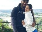 Arjun Kapoor and Malaika Arora pose together.