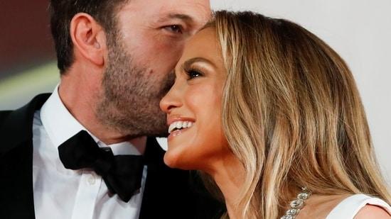 Ben Affleck and Jennifer Lopez at Venice Film Festival.(REUTERS)