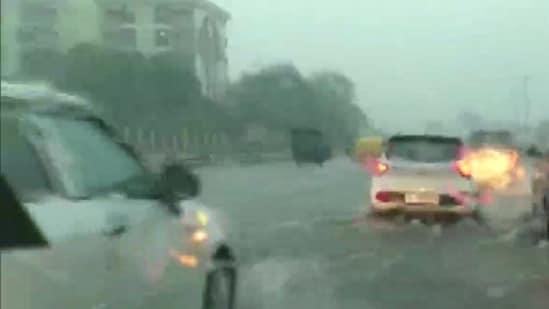Delhi after heavy rain lashed the national capital on Saturday (ANI)