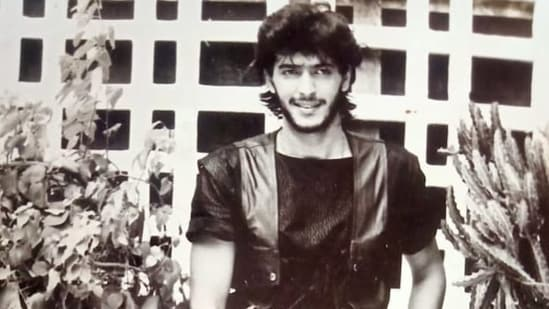 Chunky Panday in the 'mahurat shot' for his first movie Aag Hi Aag.