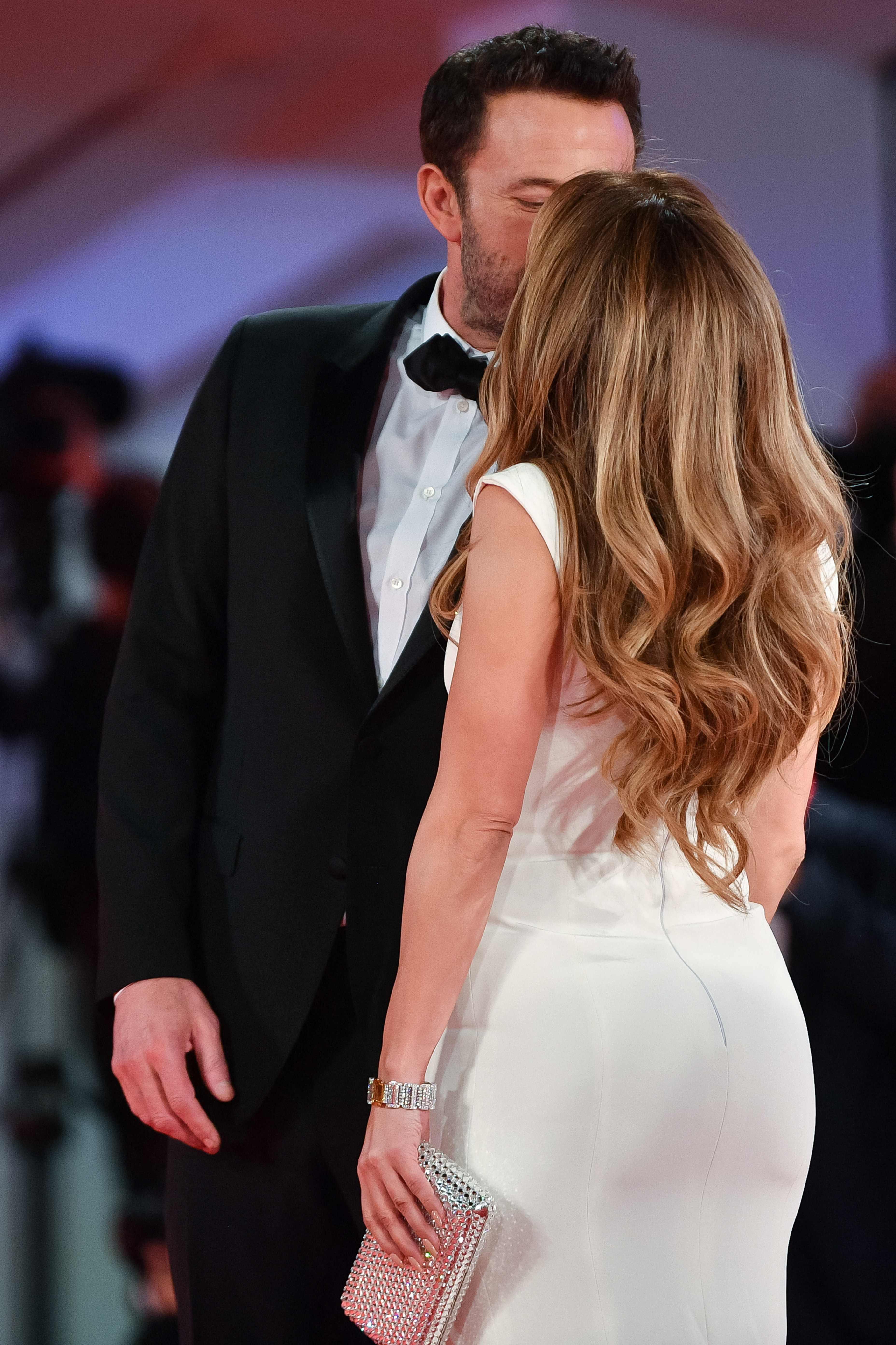 Jennifer Lopez with Ben Affleck at the Venice Film Festival.(AFP)