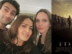 Eternals star Kumail Nanjiani spoke about working with Angelina Jolie and Salma Hayek.