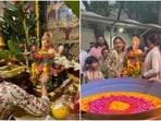 Shilpa Shetty shared a video from the Ganpati visarjan ceremony.