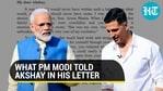PM Modi sends letter to Akshay Kumar after his mother's demise; actor responds