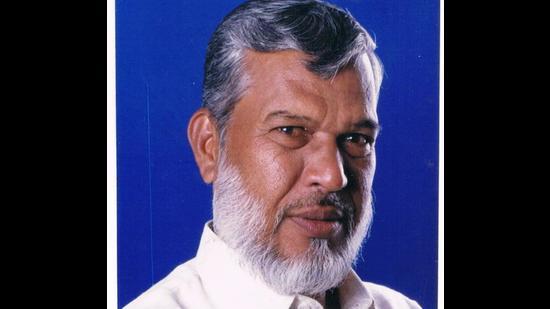 Shabbir Ahmed Ansari, president of All India Muslim OBC Organisation. (HT)