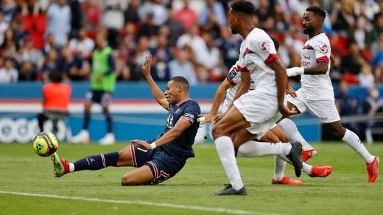 Paris St Germain's Kylian Mbappe in action(REUTERS)