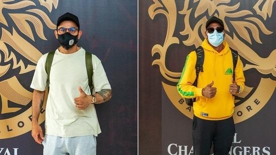 Kohli, Siraj arrives in Dubai for the UAE leg of IPL 2021(RCB / Twitter)