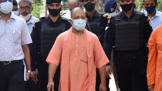 UP CM Yogi Adityanath said that Congress gives shelter to the mafia and insults faith in Lord Ram.(PTI file photo)