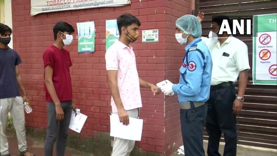 NEET 2021: Students arrive at exam centres(ANI)