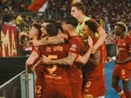 AS Roma snatch stunning late win over Sassuolo in Mourinho's 1000th game(TWITTER/AS ROMA)