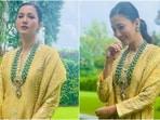 Gauahar Khan in yellow sharara shows how to dress for best friend's haldi, see pics(Instagram/@gauaharkhan)