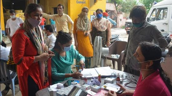 Medical camps have been set up for diarrhoea patients at Peermuchalla village in Zirakpur. (HT/Representative image)