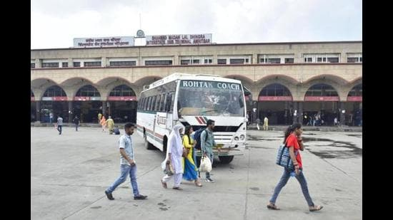 Bus services have been crippled for nine days now due to staff strike, leading to huge losses for State Transport Undertakings in Punjab. (HT photo)