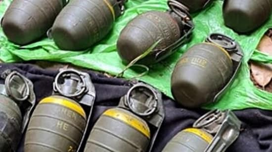 The grenades were handed over to the Central Reserve Police forces Bomb Disposal squad and state police for disposal adhering to safety protocols and SOP.(HT File)