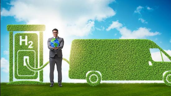 Hydrogen has attracted international attention because it is a clean fuel which when consumed in a fuel cell, produces water as an end product. (Shutterstock)