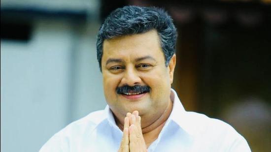 Malayalam film actor Rizabawa. (HT Photo)