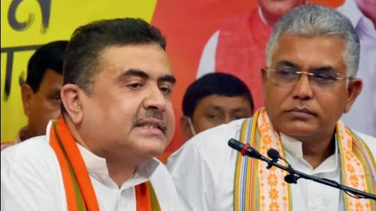 Leader of the opposition in the Bengal assembly, Suvendu Adhikari, filed the petitions for disqualification on Monday afternoon. (File photo)