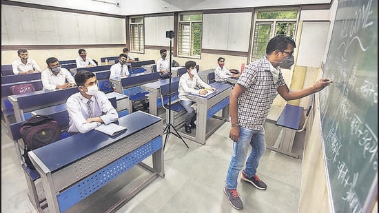 Several government school principals reported an increase in admissions when compared to previous years.((Raj K Raj/HT))