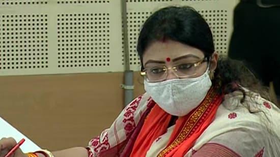 BJP's Priyanka Tibrewal files nomination papers from Bhabanipur (ANI)