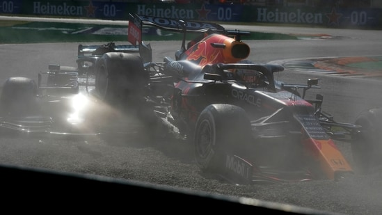 Italian GP: Max Verstappen penalised for crash, Lewis Hamilton saved by halo(AP)