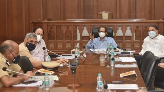 Maharashtra CM Uddhav Thackeray hold urgent meeting. (CMO release)