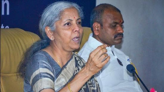 Union finance minister Nirmala Sitharaman said vaccination was necessary to prevent the third wave of Covid 19 infection. (PTI)