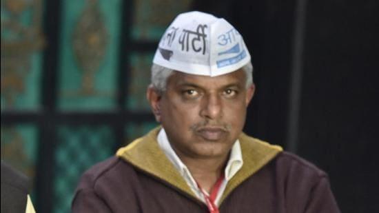 AAP leader Pankaj Gupta. (HT file photo)