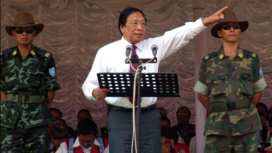 NSCN-IM leader Thuingaleng Muivah with others. The organisation has criticised Centre's talks and agreements with other factions. (Sourced Photo)