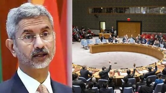 External affairs minister spoke at a UN meeting on the humanitarian situation in Afghanistan.