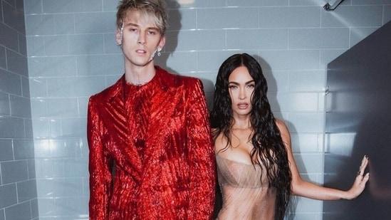 Megan Fox dares to bare in bold see-through dress for 2021 MTV VMAs with Machine Gun Kelly(Instagram/@meganfox)