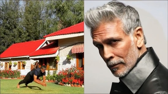 Milind Soman aces clap pushups during Kashmir vacay to build strength, tone body(Instagram/milindrunning)