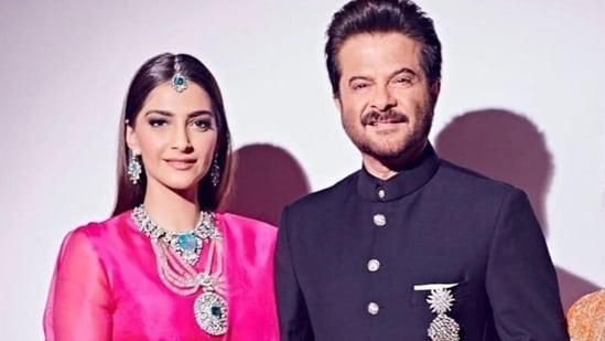 Anil Kapoor and his daughter Sonam Kapoor.