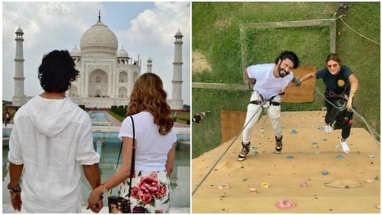 Vidyut Jammwal proposed to Nandita Mahtani at the Taj Mahal.