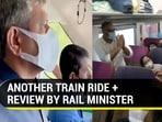 Rail minister Ashwini Vaishnaw travelled in Vande Bharat express (Twitter)