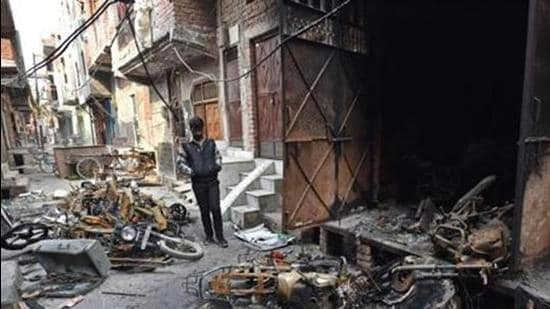 Communal riots broke out in north-east Delhi in February 2020, claiming 53 lives and leaving more than 400 injured. (HT Archive)