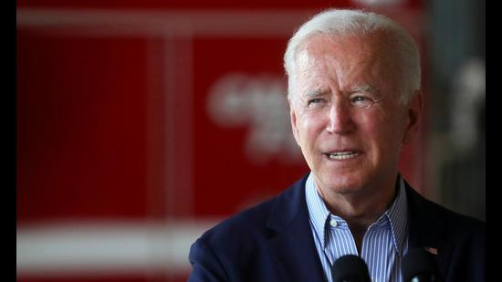 US President Joe Biden gives remarks at Mather Airport, California on Monday. Joe Biden will host the first in-person summit of leaders of the Quad countries on September 24. (REUTERS)