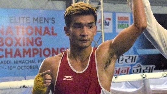 File image of Indian boxer Shiva Thapa.(PTI)