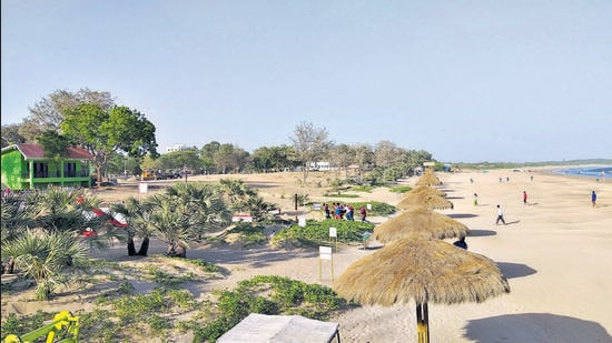 Ghoghla beach in Diu meets the criteria for the Blue Flag award, showing tourism can be an impetus for environmental improvement and conservation action. (HT)
